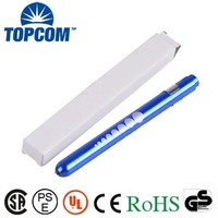 High Quality Aluminum LED Nurse Penlight with Scale