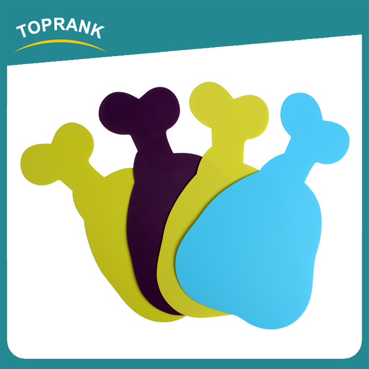 Toprank Kitchen Product 1.8 mm Chicken Leg Shaped Non-slip PP Chopping Block Function Vegetable Fruit Chopping Board Set