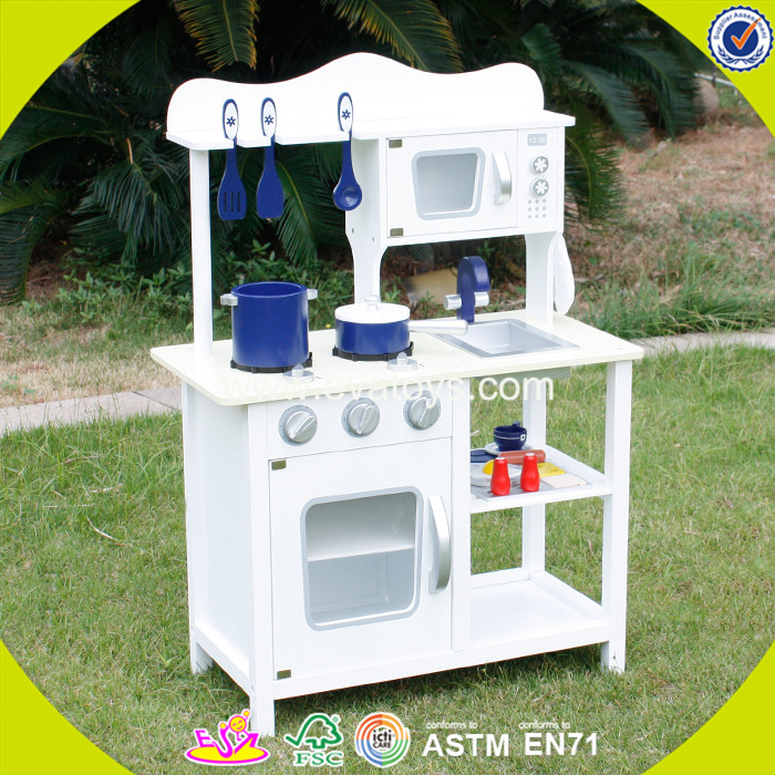 2017 wholesale kids wooden miniature toy kitchen play set role play children wooden miniature toy kitchen play set W10C045