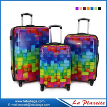 3 pcs set trolley PC luggage suitcase with 4 caster