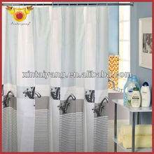 Faucet Design Shower Drape Polyester Sheer Curtain