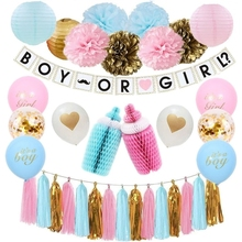 Blue And Pink Baby Shower Ideas Gender Reveal Kit Party Supplies