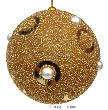handblown glass balls with deer inside in showbox for xmas decoration