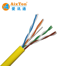 China factory 4 pair 24awg 0.5mm CCA utp fire resistant cat5e lan copper 4pr cable cable price per meter 1000ft 305m/roll cat 5