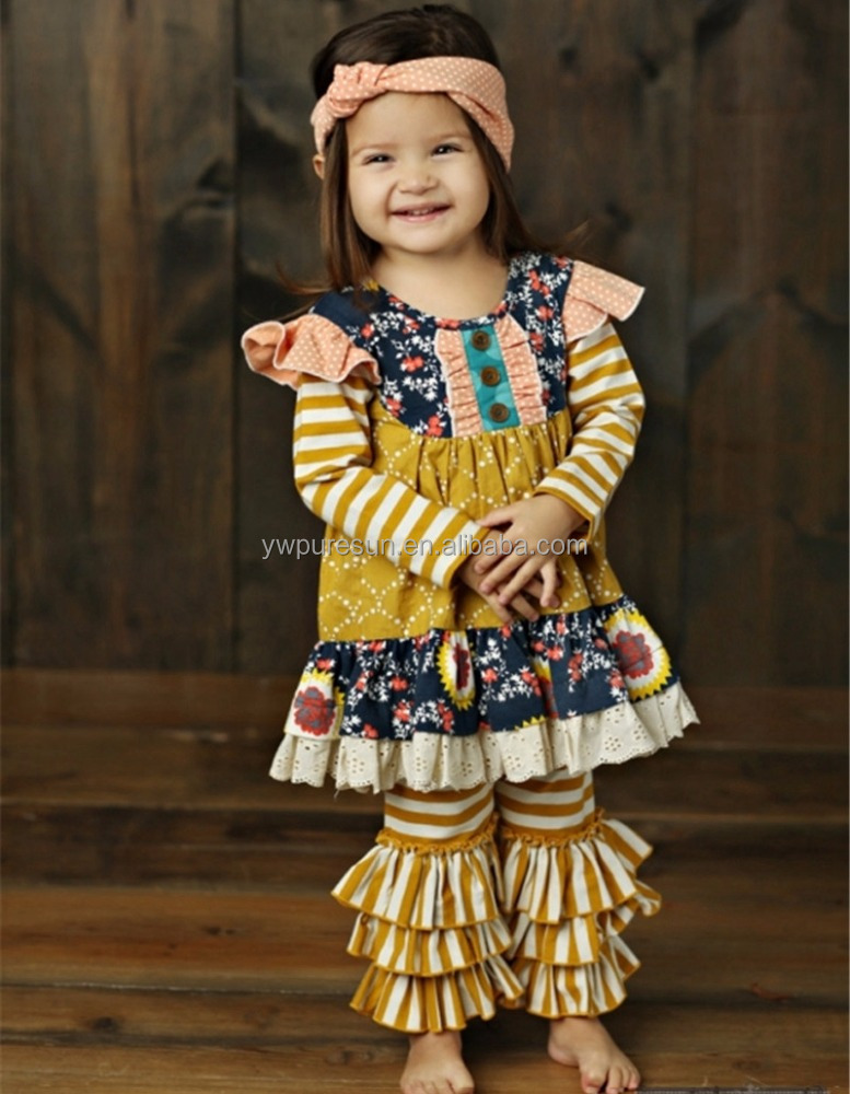 china yiwu factory direct sale 2017 toddler dress set children boutique clothing trendy baby clothes