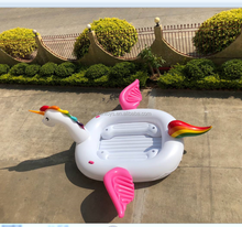 bird party island,inflatable unicorn island 6 person giant unicorn float
