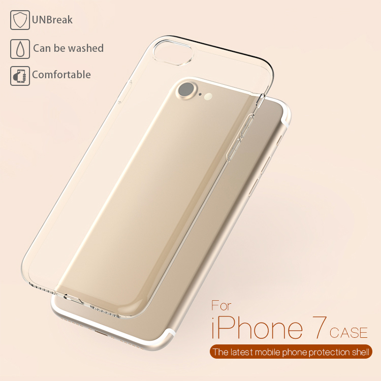 ultra slim thin mobile phone cases TPU clear transparent case back cover for iphone 5 5s 6 6s 7 plus