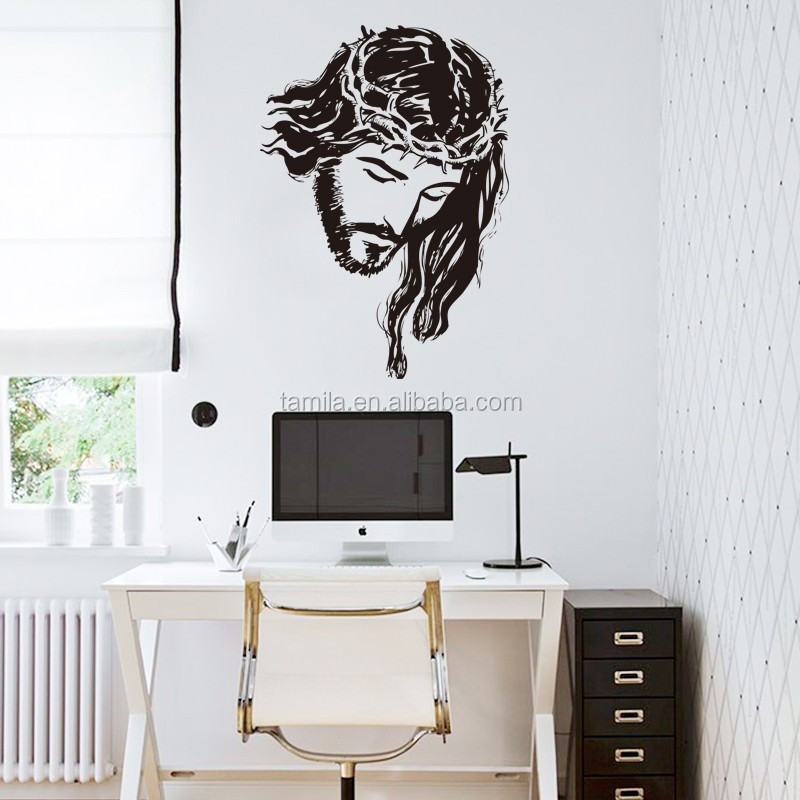 European style Jesus Head wall stickers for church wall decorations