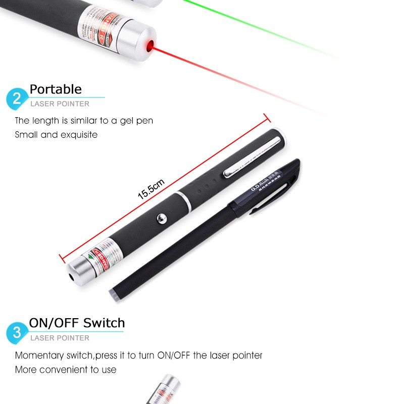 Hot selling High Power 1MW 5MW 532nm Long Distance Green/Red Laser Pointer Well In Market Cheap Laser Pen