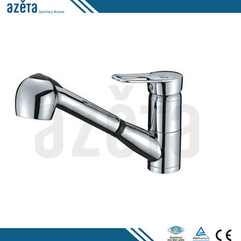 China Latest Design Single Lever Brass Spray Out Kitchen Sink Faucet