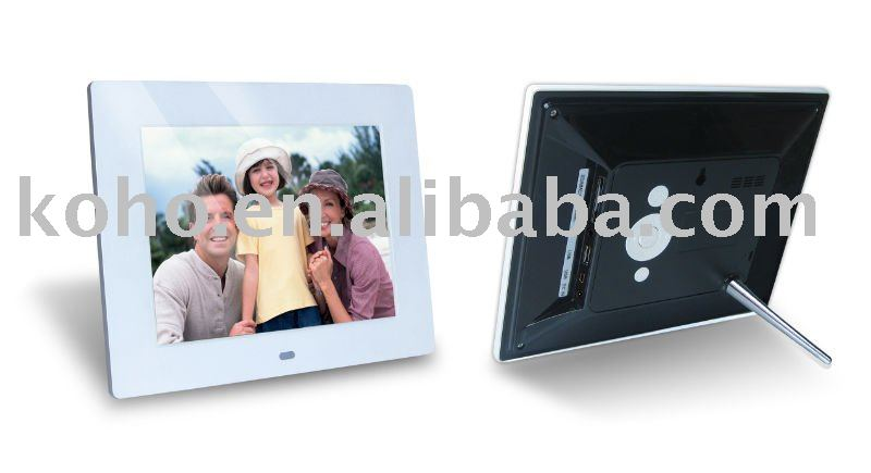 "8"" single function digital photo frame with new design"