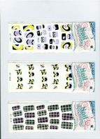 Factory Supply OEM design cartoon rabbit nail sticker in many style