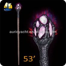 53' Multicolor Flashing Wizard Staff w/sounds when shaking