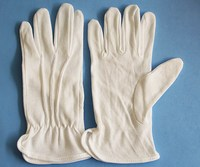 Car Driving PVC Dotted Cotton Gloves