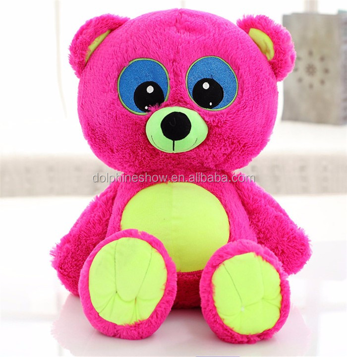 OEM custom cheap stuffed soft toy plush colorful teddy bear wholesale pretty baby toy soft plush blue magic teddy bear