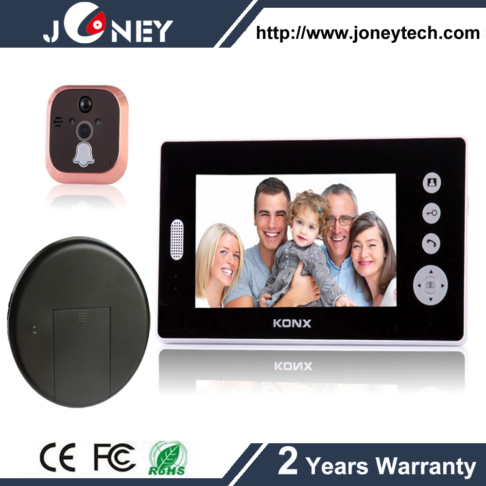 3.5inch Digital Wireless Doorbell Two Way Intercom Video Door Phone, Smart IR Night Vision Doorbell