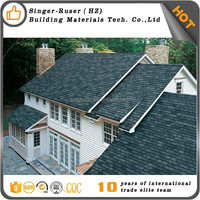 Cheap Chinese quality fiberglass asphalt roofing shingle fish scale green 3 tab fiberglass shingles