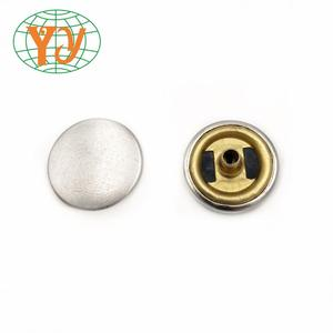 nickel -free brass Metal spring press snap button for clothing