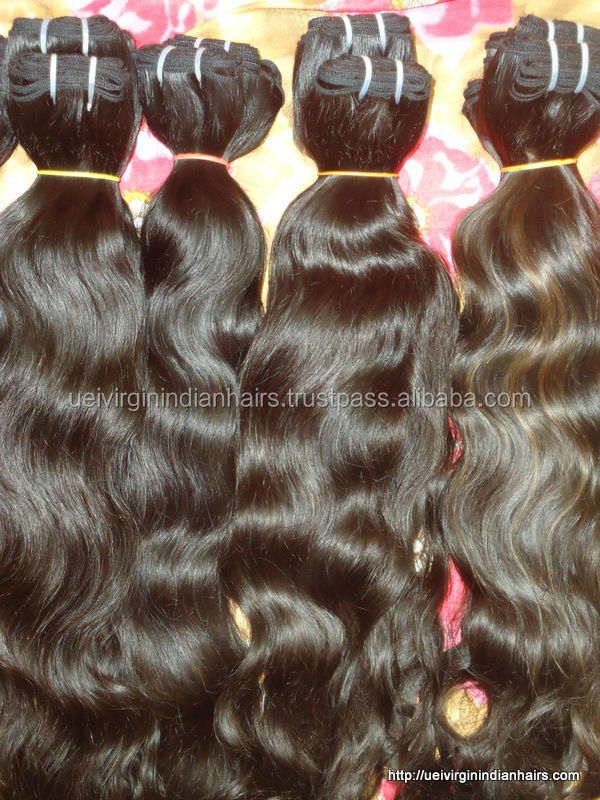 Curly machine weft virgin Indian Remy 8a grade