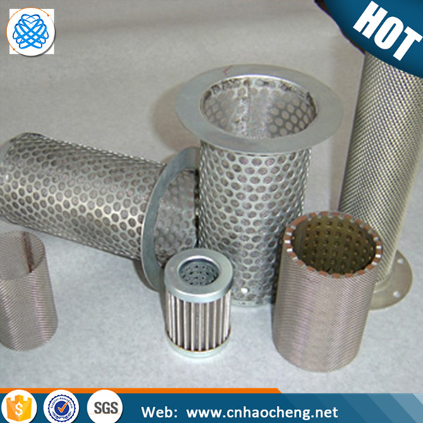 High quality pure nickel /monel/304 stainless steel perforated oil filter tube