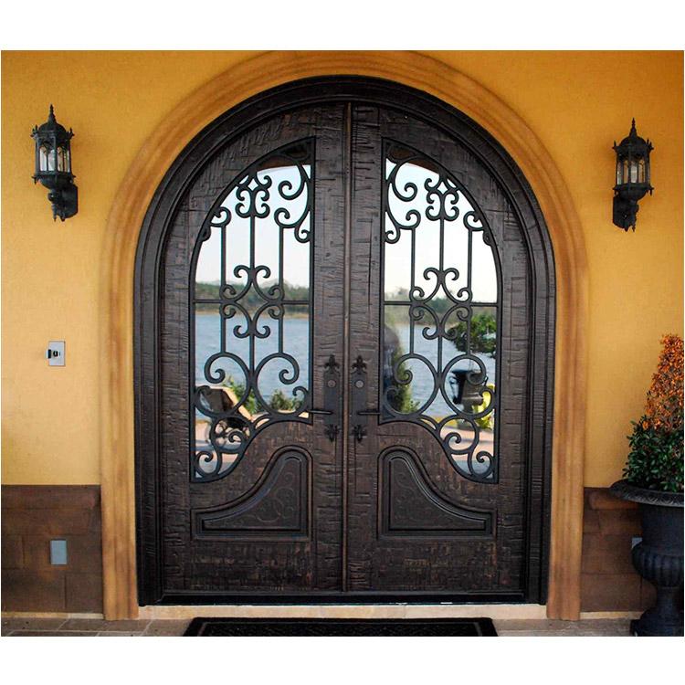 Exterior Security Doors With Glass Insert Wrought Iron Door Buy