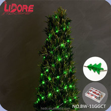 Wholesale Battery Operated Copper Wire Mini LED Fancy Lights String with Christmas Green Tree Decorative Cover Design