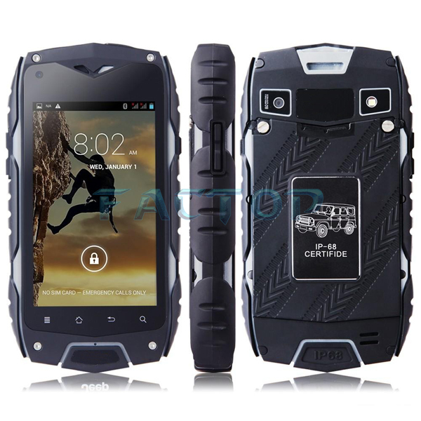 Rugged Waterproof Cell Phone 4INCH 1GB 8GB Quad Core MTK6582 JEEP Z6 Plus