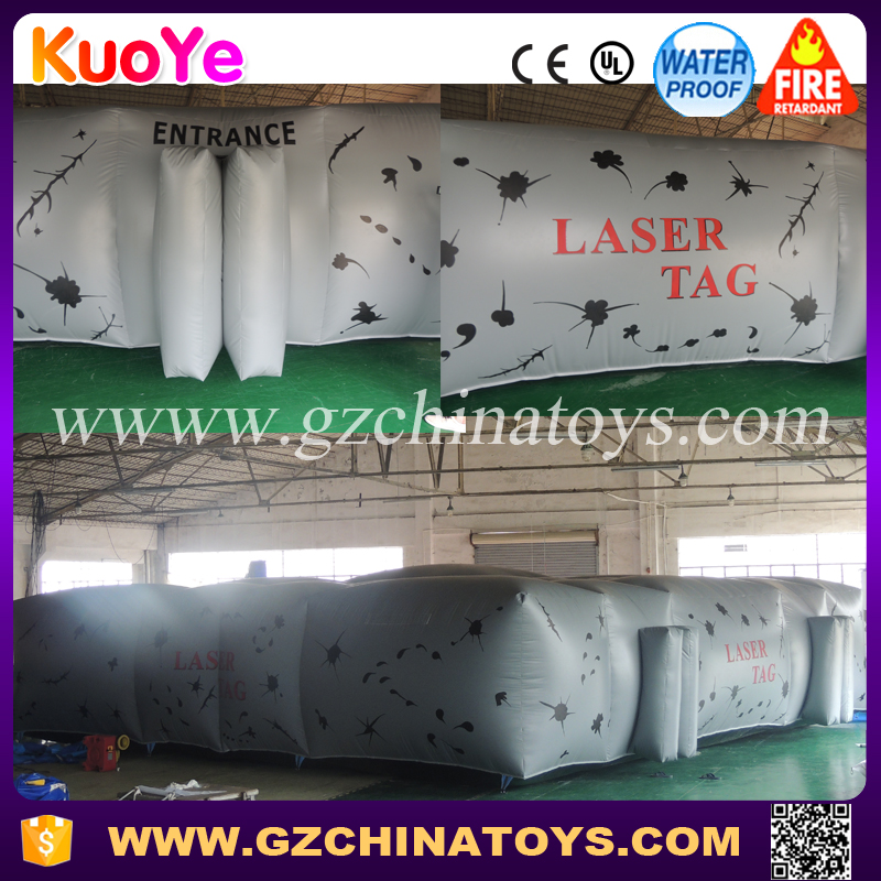 Commercial laser maze inflatable laser tag arena