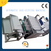 Full automatic die cutting machine with flexography/gravure printing press