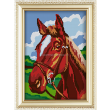 Horse pattern hot sell with frame for wall art diy diamond painting kits