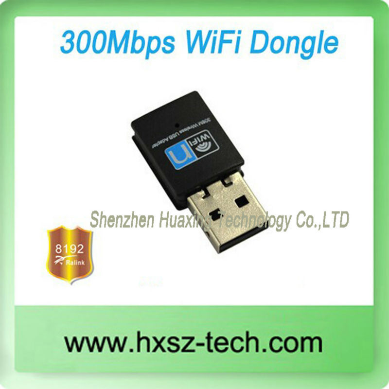High Gain Speed Wireless Small Mini USB 300Mbps Realtek RTL8192CU USB WiFi Dongle Adapter