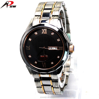 2015 Luxury watch with Auto Date stainless steel watch Japan movt quartz watch stainless steel back for men
