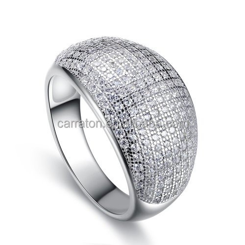 promotion design jewelry multi AAA cz micro pave pure 925 sterling silver ring