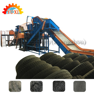 Scrap Truck Tires Processing Production Line/Waste Car Tyres Processing Recycling Plant