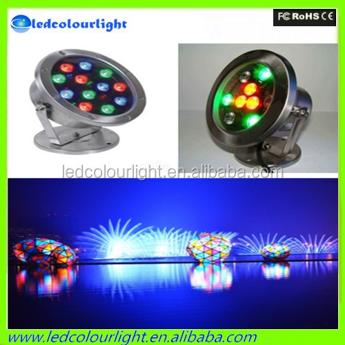 Super waterproof stainless steel fixtures 12v/24v IP68 dmx rgb 9w 18w 27w led underwater light