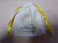 personalized Cotton Muslin Drawstring Custom Jewelry Pouch with logo