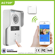 2016 new products ACTOP3G/4G/wifi smart door bell with app intercom,monitor ,unlcok wifi doorbell camera
