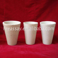 Cheap price ceramic crucible boat fire clay crucible for gold melting