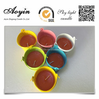 Outdoor Citronella Candles in colored