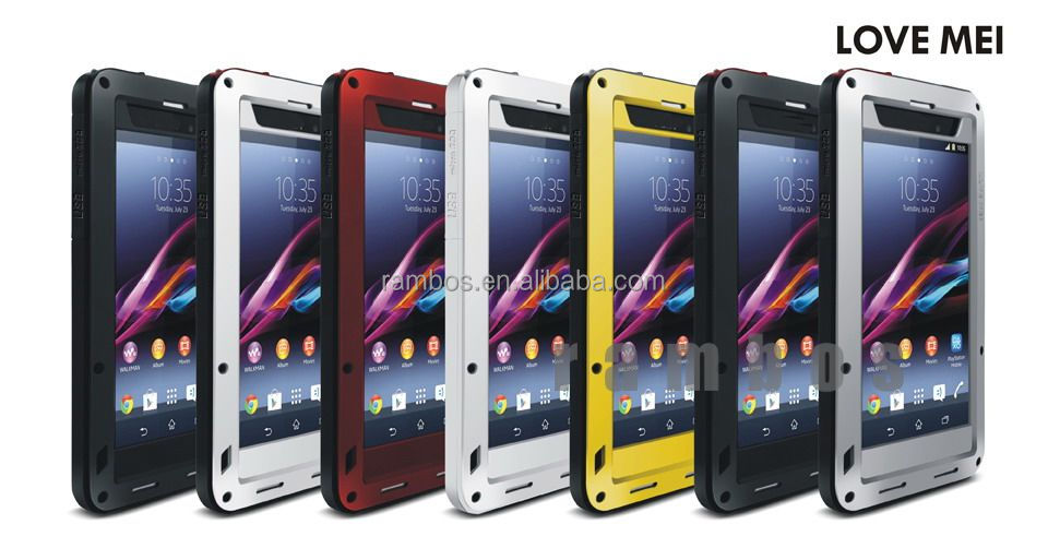 Love Mei Waterproof Shockproof Aluminum Metal Cover Case for Sony Xperia Z1