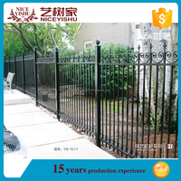 Hebei factory cheap wrought iron fence panels,wrought iron fence with forged spears