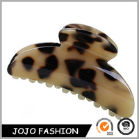 Eco-friendly wholesale acetate sheet fine korean brown plastic hair claw clips/
