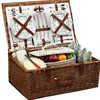 Weaving Picnic Basket For Four People