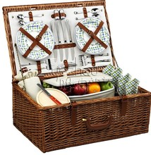 Weaving Picnic Basket for Four People/Picnic Blanket