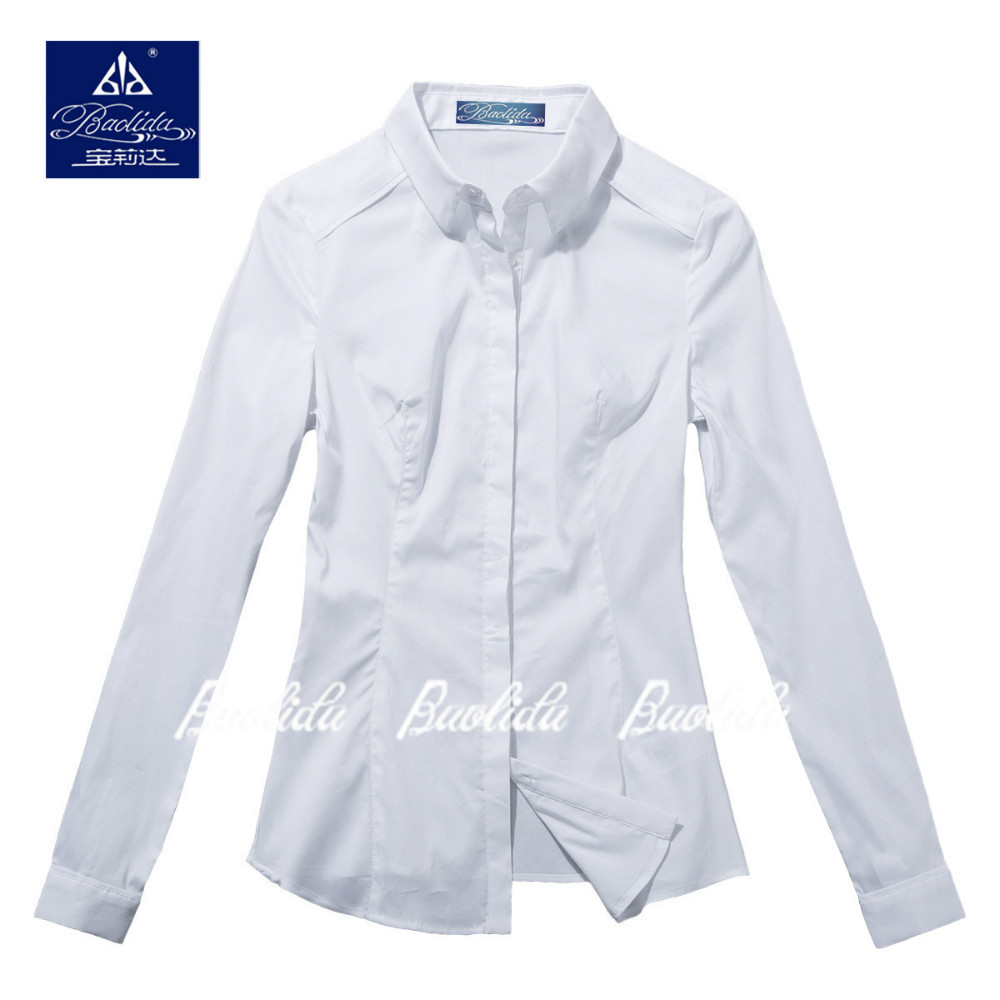White Cotton Spandex Blouse 72