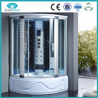 villa house home use one person acrylic shower cabin with touch screen panel indoor massage bathtub