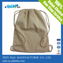 China Factory Top Quality Reusable Calico Drawstring Bag