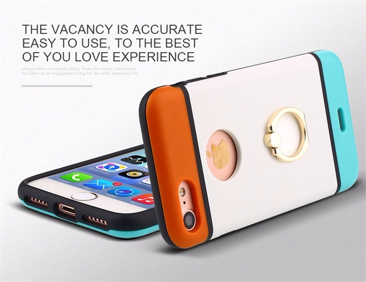 Fashionable Colorful Mobile Cell Phone Case/Cover For iPhone 7 With Finger Ring
