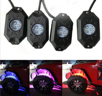 RGB car led RGB rock light automobile chassis light 9w*4pcs
