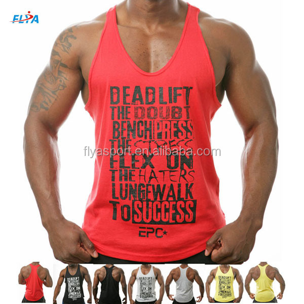 2018 Hot Sale Custom High Quality 100% Cottonmens Gym Muscle Singlet